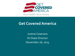 Get Covered America – Justine Cesarano