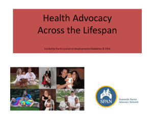 Health Advocacy Manual- Across the Lifespan