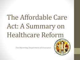 Compressed Health Care Reform PowerPoint Presentation