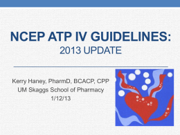 NCEP ATP IV Guidelines - Montana Pharmacy Association
