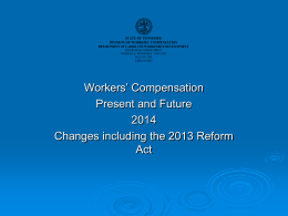 Comp Present and Future 2014 Changes Including the 2013 Reform