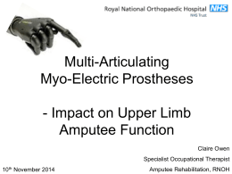 Multi-Articulating Myo-Electric Prostheses