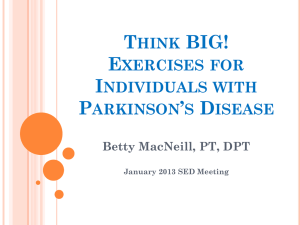 Think Big: Exercises for Individuals with Parkinson`s Disease