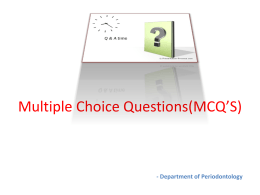 MCQ`S of classification of diseases and condition affecting