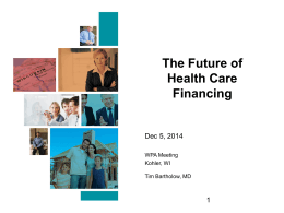 The Future of Healthcare Financing
