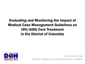 HIV Medical Case Management Guidelines Training