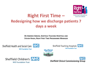 Sheffield Right First Time Programme