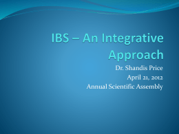 IBS * An Integrative Approach