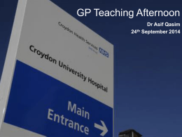 CHS GP Teaching Afternoon 24Sept2014