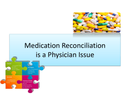 the Medication Reconciliation Powerpoint presentation.
