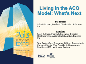 Living in the ACO Model - Healthcare Supply Chain Association