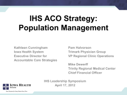 ACO Program Management
