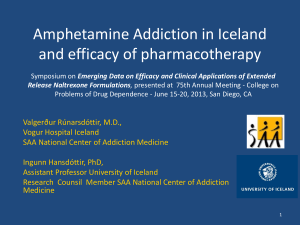 Amphetamine Addiction in Iceland and efficacy of pharmacotherapy