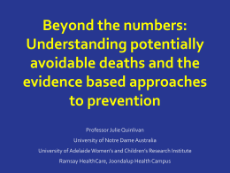 Beyond the numbers: Understanding potentially avoidable deaths