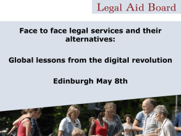 presentation - Scottish Legal Aid Board