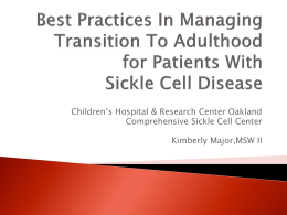 Sickle Cell Disease - Criss