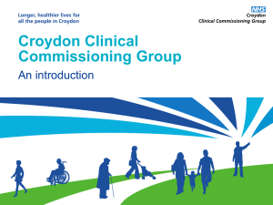 Introduction to NHS Croydon CCG