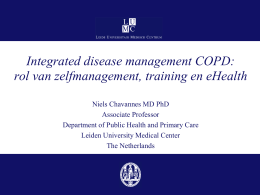 Integrated disease management COPD: rol van