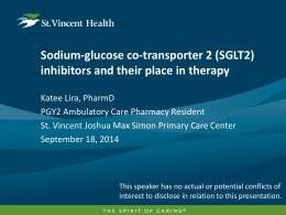 (SGLT2) inhibitors and their place in therapy
