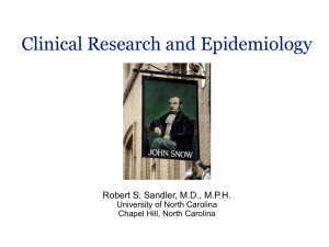 Clinical Research and Epidemiology