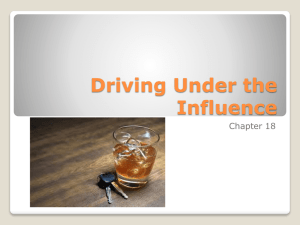 Chapter 18 - Driving Under the Influence
