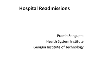 What is Hospital Readmission - Health Systems Institute