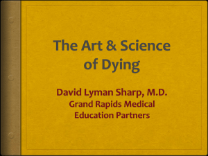 The Art & Science of Dying - Grand Rapids Medical Education