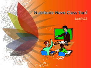 Nutrients Have Class Too! PowerPoint presentation