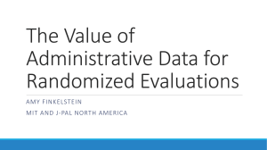 The Value of Administrative Data for Randomized Evaluations