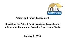 Patient & Family Advisor - Avoid Readmissions through Collaboration