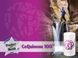 Coenzyme Q10 (CoQ10 or ubiquinone) is a fat-soluble