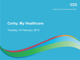 here - NHS Corby CCG