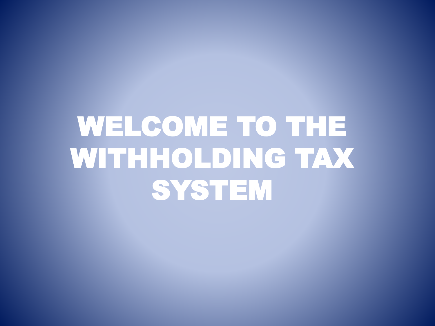 final withholding tax - Accounting Division