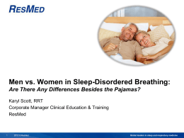 Men vs. Women in Sleep-Disordered Breathing
