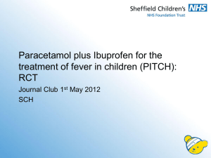 Paracetamol plus ibuprofen for the treatment of fever in children