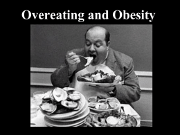 Overeating & Obesity