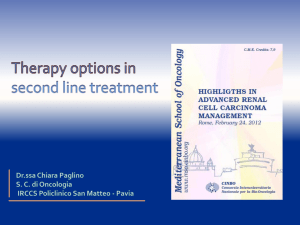 Therapy options in second line treatment