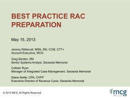 webinarBestPracticeRACPreparation_May2013