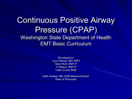 CPAP PowerPoint - Yakima County Department of Emergency