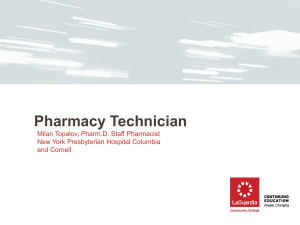 Pharmacy Technician Information Night