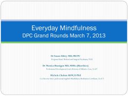 Everyday Mindfulness - Department of Family and Community