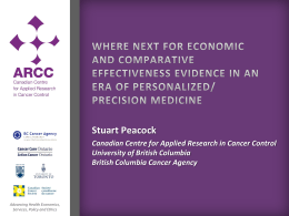 Where next for economic and comparative effectiveness evidence in