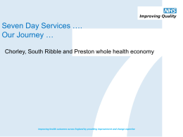 Chorley, South Ribble and Preston whole health economy