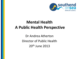 A Definition of Public Health - South East and Central Essex Mind