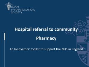 PowerPoint Slides for South East England Specialist Pharmacy
