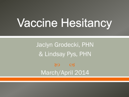 Vaccine Hesitancy Presentation