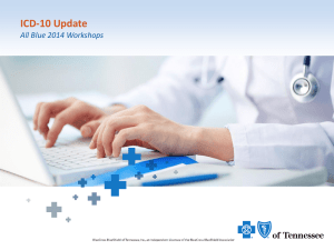 ICD-10 - BlueCross BlueShield of Tennessee