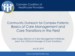 Community Outreach for Complex Patients
