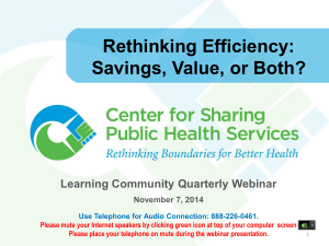 PowerPoint Slides - Center for Sharing Public Health Services