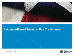 EBP-Smoking Cessation-120806 - APPIC Shared Training Documents